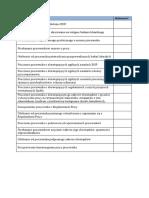Checklist A