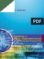 Guideline Thesis Dissertation Postgrad 2013Latest