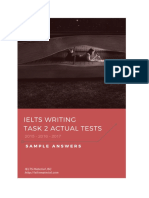 IELTS Writing Task 2 Actual Tests 2015 - 2016 - 2017 & Sample Answers
