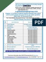 HACCP Certification Documents kit
