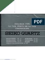 Seiko 7a38 manual