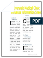Riverwalk Medical Clinic Influenza Information Sheet