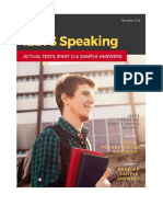 IELTS Speaking Recent Actual Tests (Part 2) in 2015 & Suggested Answers