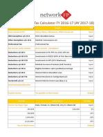 Income Tax Calculator FY 2016 17