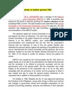 MAC Cervantes vs Auditor General 1952