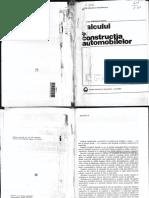Calculul Si Constructia Automobilelor - Gheorghe Fratila