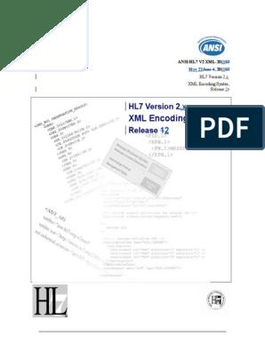 XML Encoding Rules for HL7 v2 Messages v02 | Xml Schema | Xml