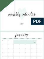 Sea - Traditional Mtp Calendar - Aus - A4