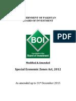 Modified SEZ Act 2012
