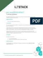 SaltStack Administration I Summary