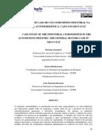 Estudo de Caso de Um Condomínio Industrial Na Indústria Automobilística Caso GM Gravataí