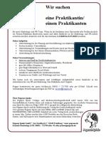 Stellenausschreibung Praktikum_2019