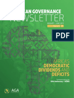 African Governance Newsletter - Democratic Dividends and Deficits (Jan-June 2017)