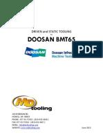 Doosan BMT65 Tooling