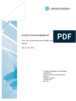 Event Management Doctoral Thesis