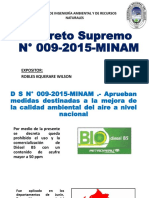 Decreto Supremo N° 009-2015-MINAM