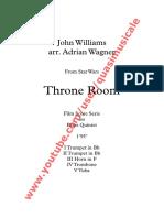 """Throne Room"" from Star Wars (John Williams) arr. Adrian Wagner - Brass Quintet (Sheet Music) Arrangement"