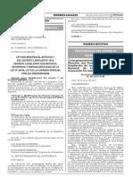 Ley que modifica el artículo 1 del Decreto Legislativo 1324 Decreto Legislativo que modifica incorpora y deroga artículos de la Ley N° 29709 Ley de la Carrera Especial Pública Penitenciaria
