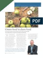 Green Food is Clean Food
