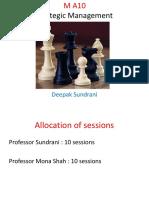 Strategic Management Master Session