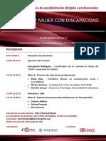 Programa Sesión Formativa CERMI Madrid-Ayto. Madrid SEXUALIDAD Y MUJER CON DISCAPACIDAD