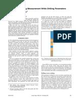 Blast Design Using Measurement While Drilling Parameters