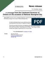 21 - Lieutenant Governor's message on Natoinal Aboriginal Day.pdf