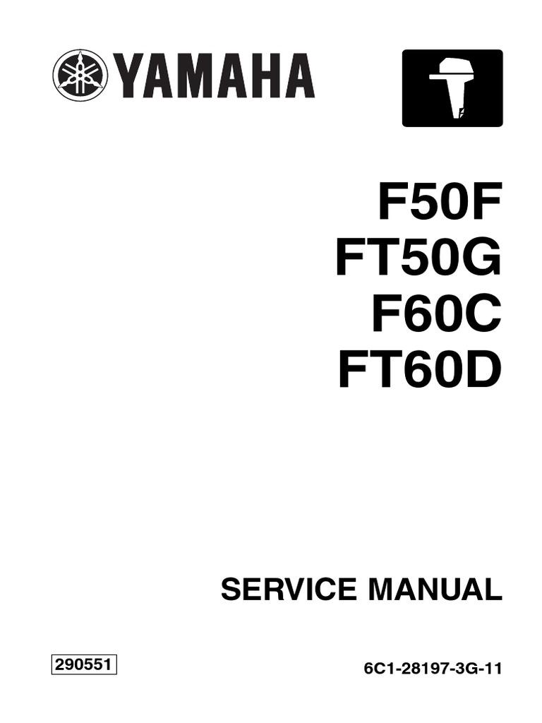 YAMAHA OUTBOARD F60CEHT Service Repair Manual SN1000001