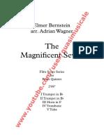"""""""The Magnificent Seven"""" (Elmer Bernstein) arr. Adrian Wagner - Brass Quintet (Sheet Music) Arrangement"""