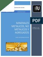 Definición de Minerales Metálicos