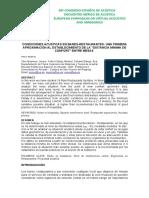 ANÁLISIS DEL CONFORT ACÚSTICO RESTAURANTE-INTELIGIBILIDAD Y PRIVACIDAD TECNIACÚSTICA 2015