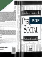 GIL, Antônio Carlos. Pesquisa Social