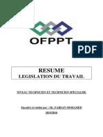 RESUME législation du travail.pdf