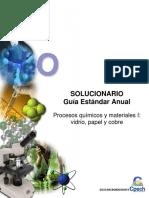 Solucionario Guía Práctica Procesos Químicos y Materiales I Vidrio Papel y Cobre 2013