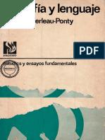 Merleau Ponty Filosofia y Lenguaje