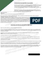 Diagonalizacion Semejanza Congruencia Vectores Propios