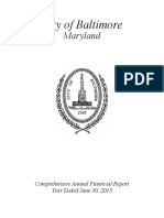 Baltimore City audit of fiscal year 2015