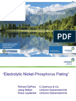 Electrolytic Nickel Phosphorus Plating
