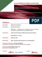 Programa Sesión 2017 Cermi Madrid-Ayto. Madrid Apoyos Soc. Autonomía Personal