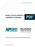 Market Value of Property Plant and Equipment in a Business