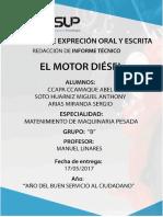 Informe Tecnico - Motor Diesel (1)