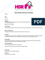 Open Market Valuation Template UK Version