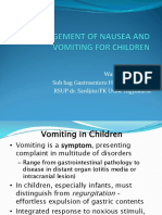 NAUSEA AND VOMITING IN CHILDREN ppt 26 APRIL 2013.ppt