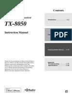 Manual TX-8050 En