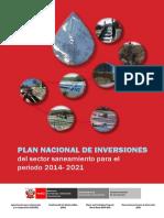 Plan Nacional Inversiones Saneamiento