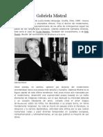 Biografia de Gabriela Mistral. 5 Año Básico.