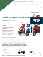 Honda Cliq vs Honda Activa 4G vs Honda Dio_ Spec Comparison - NDTV CarAndBike