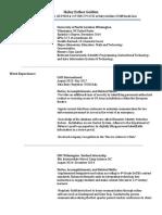 teaching resume  update june17