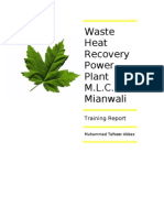 Waste Heat Recovery in Cement Industry at Mapl Leaf Cement Factory