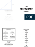 The Restaurant Breakfast menu